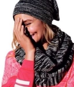 V.s. pink Hat & infinity scarf combo
